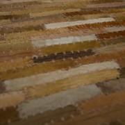 Vloerkleed gerecycled leer bruin 160cm. x 230cm.