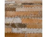 Vloerkleed van gerecycled leer/huid goud-bruin 160 x 230cm
