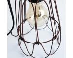 Draadlamp industrieel roestbruin 25cm. hoog