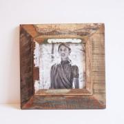 Fotolijst hout vintage vierkant 28 x 28cm.