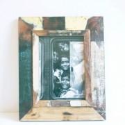 Fotolijst hout vintage 28 x 34cm.