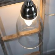 Hanglamp Batei helder glas 17cm.
