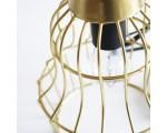 Hanglamp metaaldraad Milaan goud 27 cm. hoog