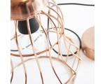 Hanglamp metaaldraad Milaan koper 27 cm. hoog