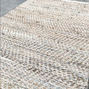 Vloerkleed leer met jute beige 160cm. x 230cm.