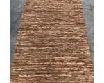 Vloerkleed gerecycled leer bruin/ goud 160cm. x 230cm.
