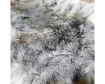 Konijnenvachtje gemeleerd beige 30cm. x 50cm.