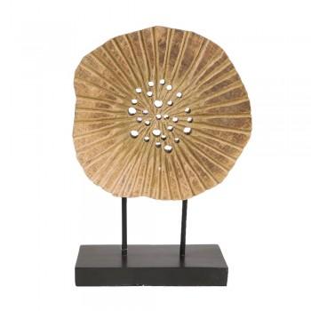 Ornament Earthware mangohout 38cm. hoog