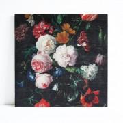 Paneel hout De Heem Flowers 30cm. x 30cm