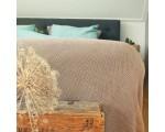 Plaid Stitch grof gebreid taupe 130cm. x 170cm.