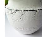 Pot keramiek wit d.15 x 21cm. hoog