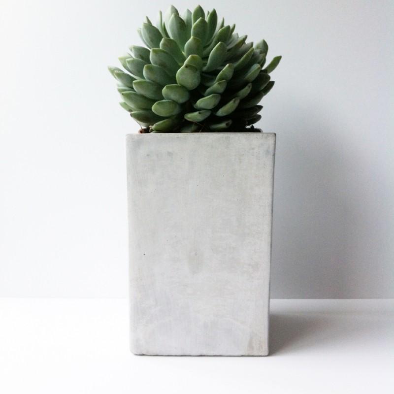 Pot beton vierkant 20cm hoog - Cache pot beton ...