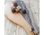 Snijplank deco hout met natuursteen 37cm.
