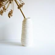 Vaas rope porselein wit d.9 x 20cm. hoog