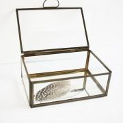 Vitrine deco box antiek 15,5 x 10,5 x 6cm.