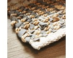 Vloerkleed leer met jute taupe/ grijs 160 x 230cm.