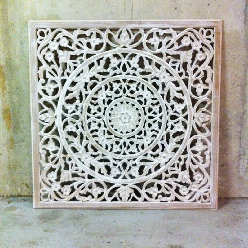 Wandpaneel houtsnijwerk 100 x 100cm
