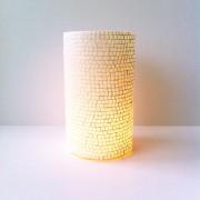 Windlicht cilinder glas mozaik d.10 x 17,5cm