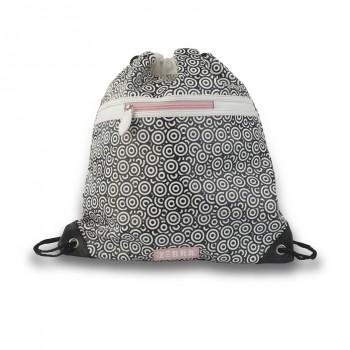 Zebra Trends luxe zwemtas Circle zwart/ wit