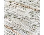Vloerkleed wit Zenza leer metallic 140 x 200cm.